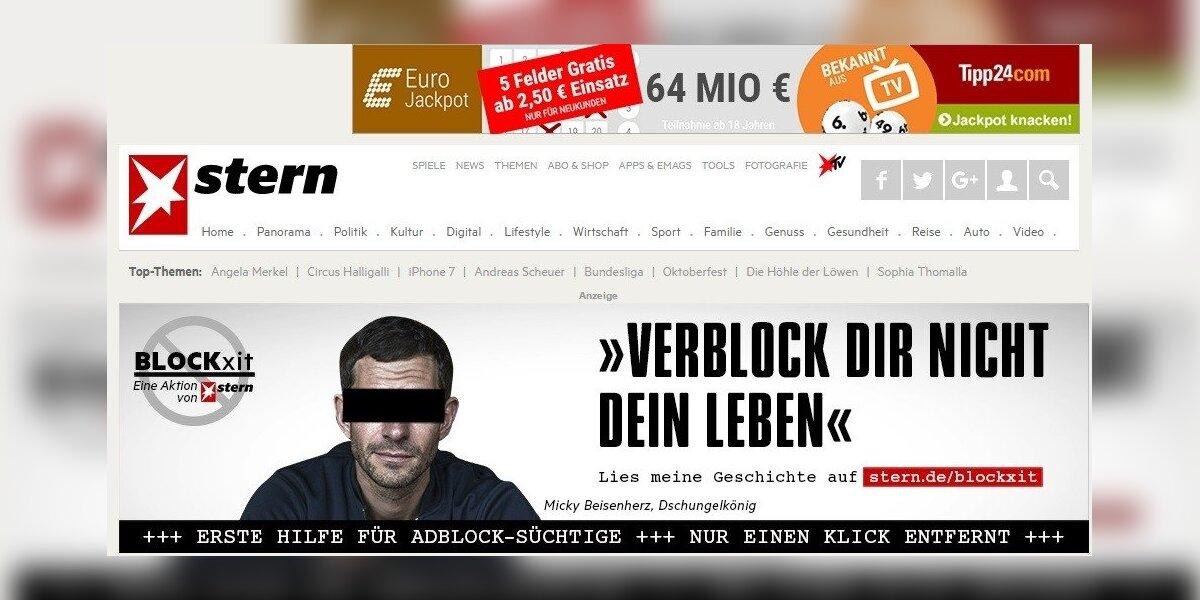 Vokiečių leidėjai į kovą su reklamos blokavimu pasitelkė humorą
