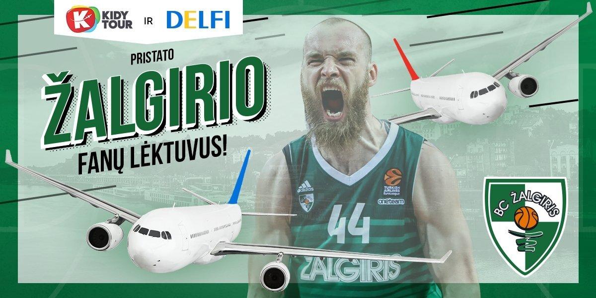 """DELFI ir """"Kidy Tour"""" į Eurolygos finalo ketvertą skraidins du """"Žalgirio"""" fanų lėktuvus"""