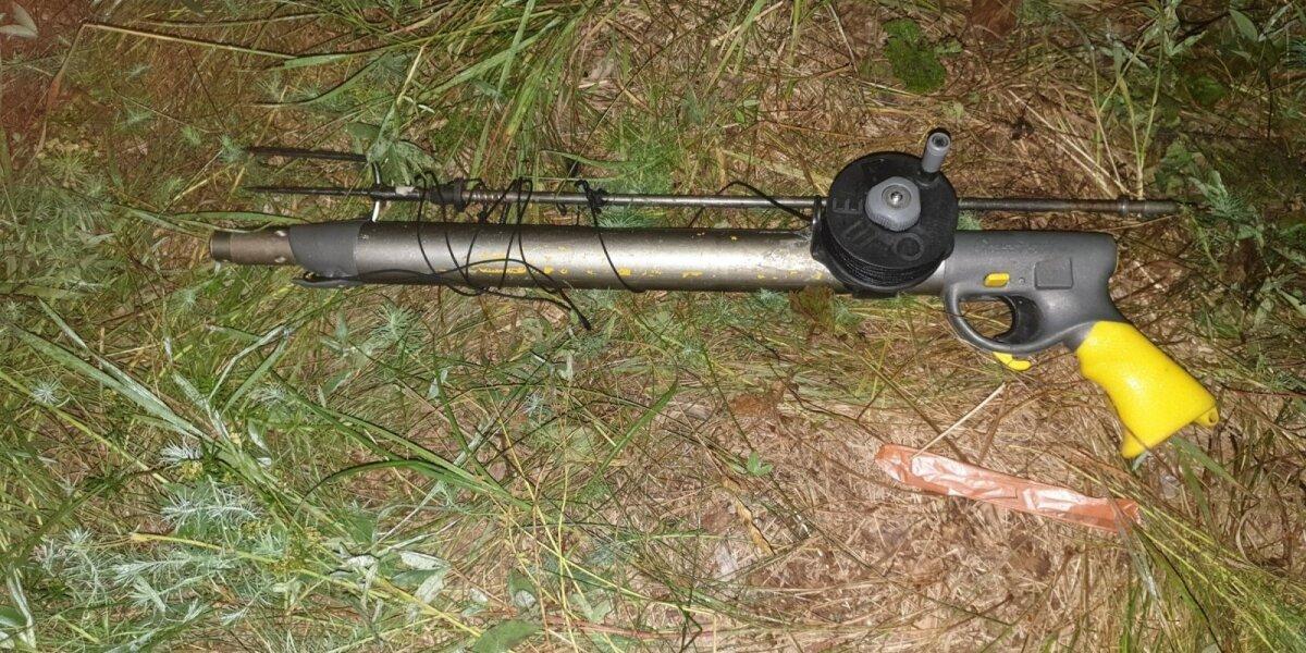 Konfiskuotas povandeninės žūklės šautuvas
