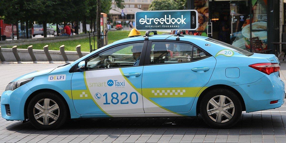Reklama ant taksi automobilių stogo: ar tai, kas tinka Las Vegasui, tinka ir Lietuvai?