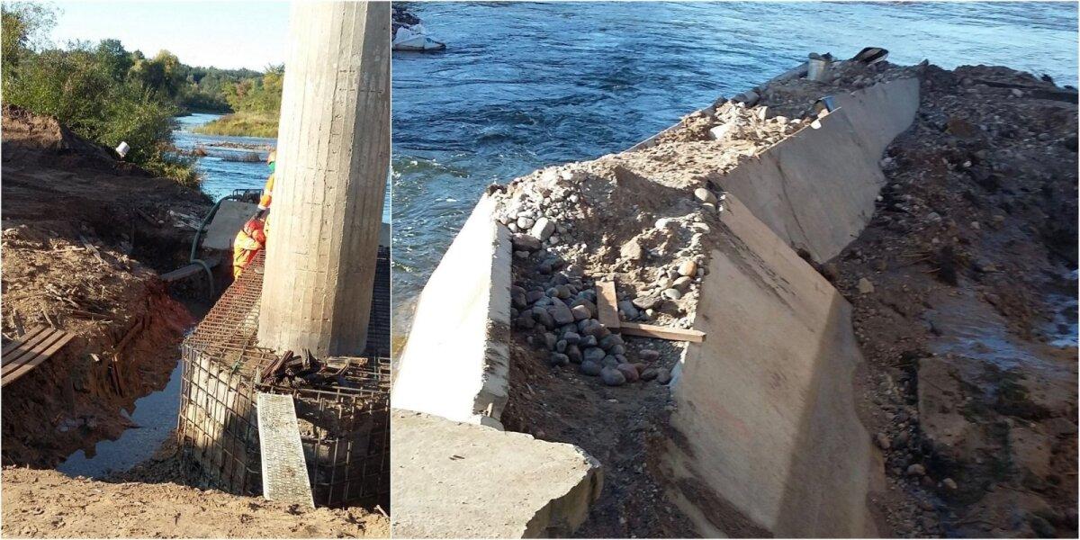 Šventosios upėje vykdyti statybos darbai