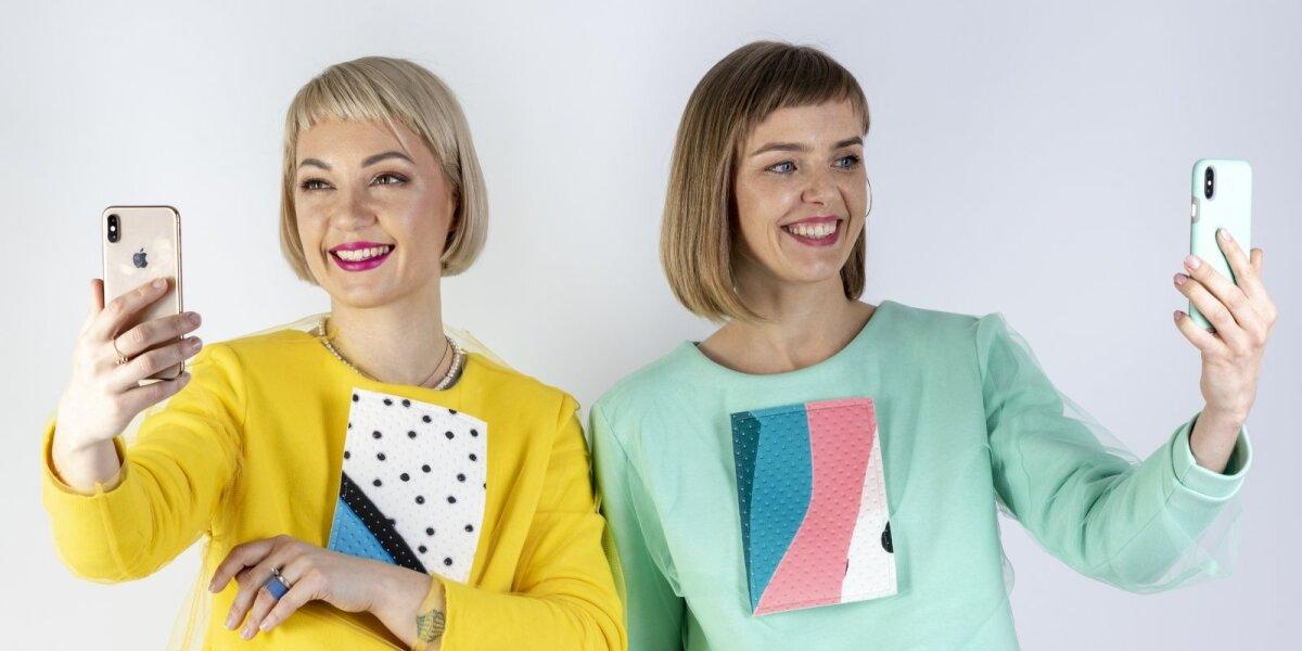 """Projekto """"Zoomer"""" autorės: Viktorija Bugajenko (kairėje) ir Guoda Sakalauskienė (dešinėje)"""