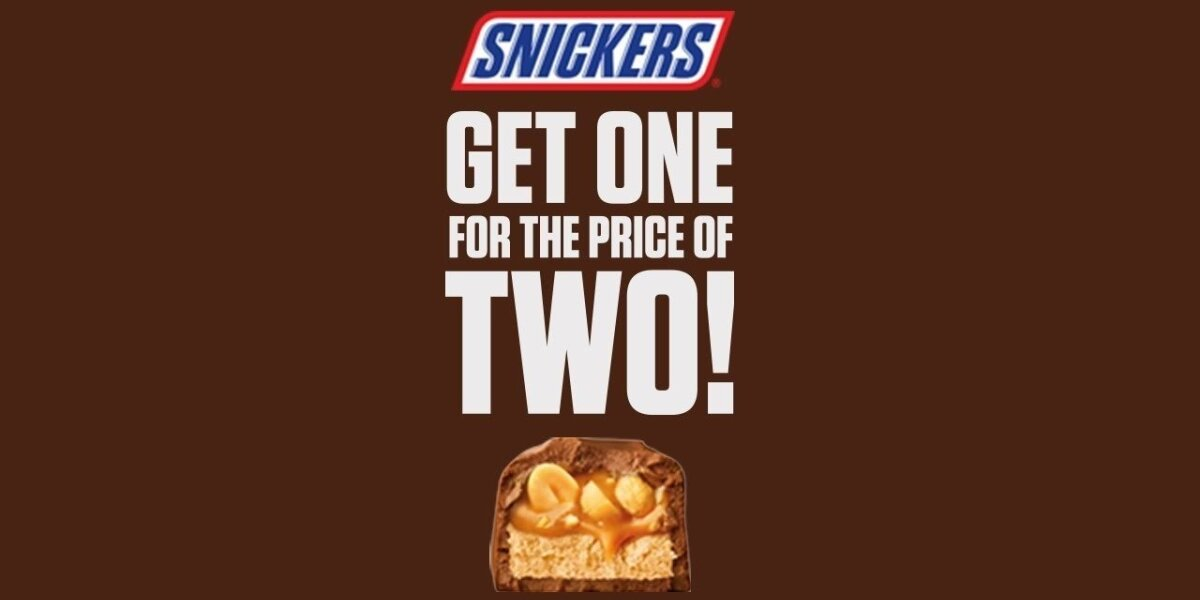 """""""Snickers"""" triukas: kodėl vieną batonėlį siūlo įsigyti už dviejų kainą"""