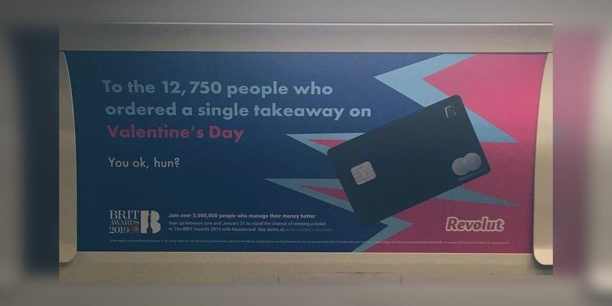 """""""Revolut"""" reklama Londone įžeidė vienišius"""