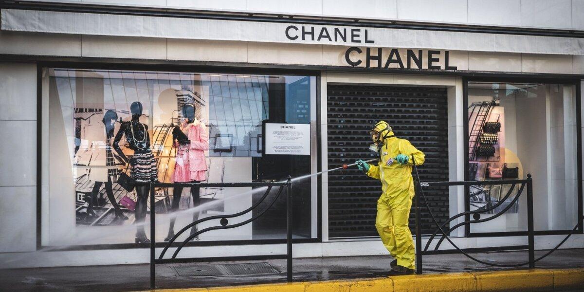 """""""Chanel"""" parduotuvė karantino metu"""