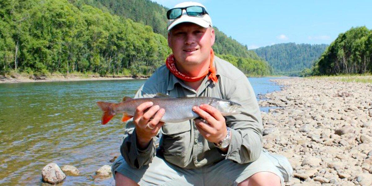 Žvejybos Altajuje akimirka