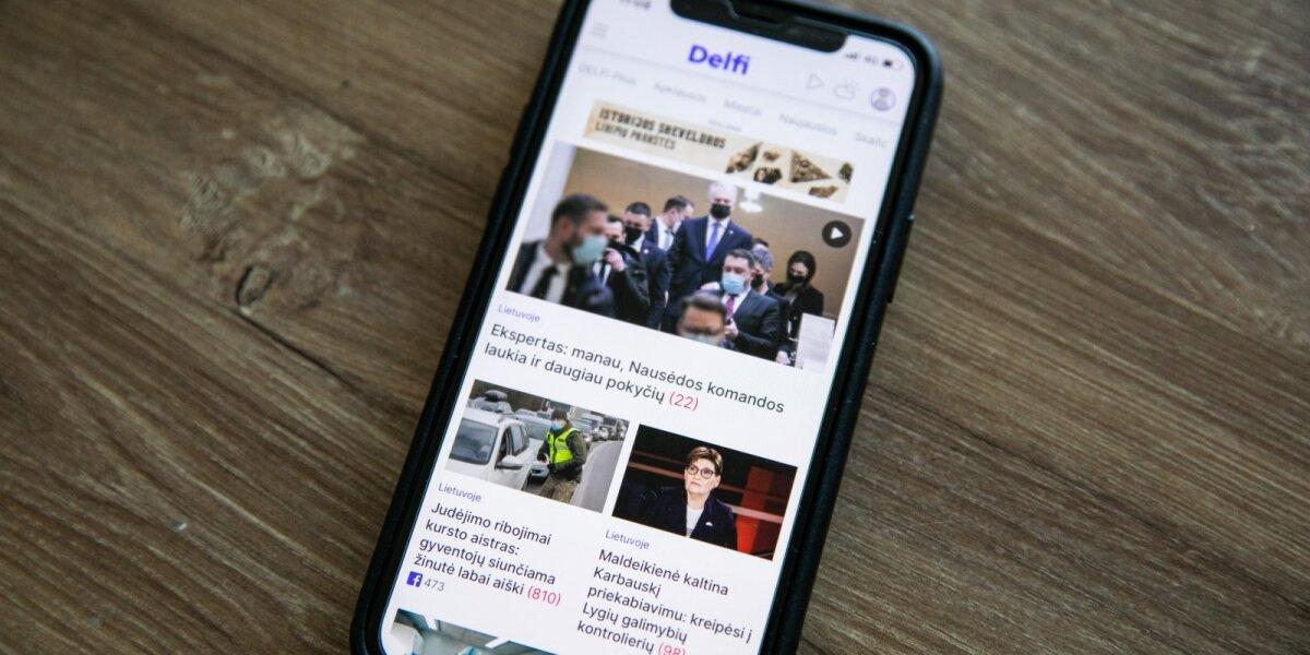 Delfi vasarį – užtikrintas lyderis tarp naujienų portalų