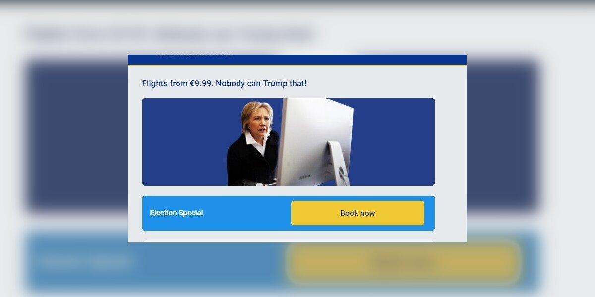 """""""Ryanair"""" pasiūlymas: net Hillary neištrintų šio laiško..."""