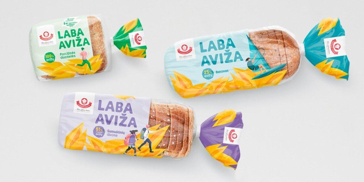 """""""Étiquette"""" sukūrė neduoniškas duonų pakuotes trims Baltijos šalims"""