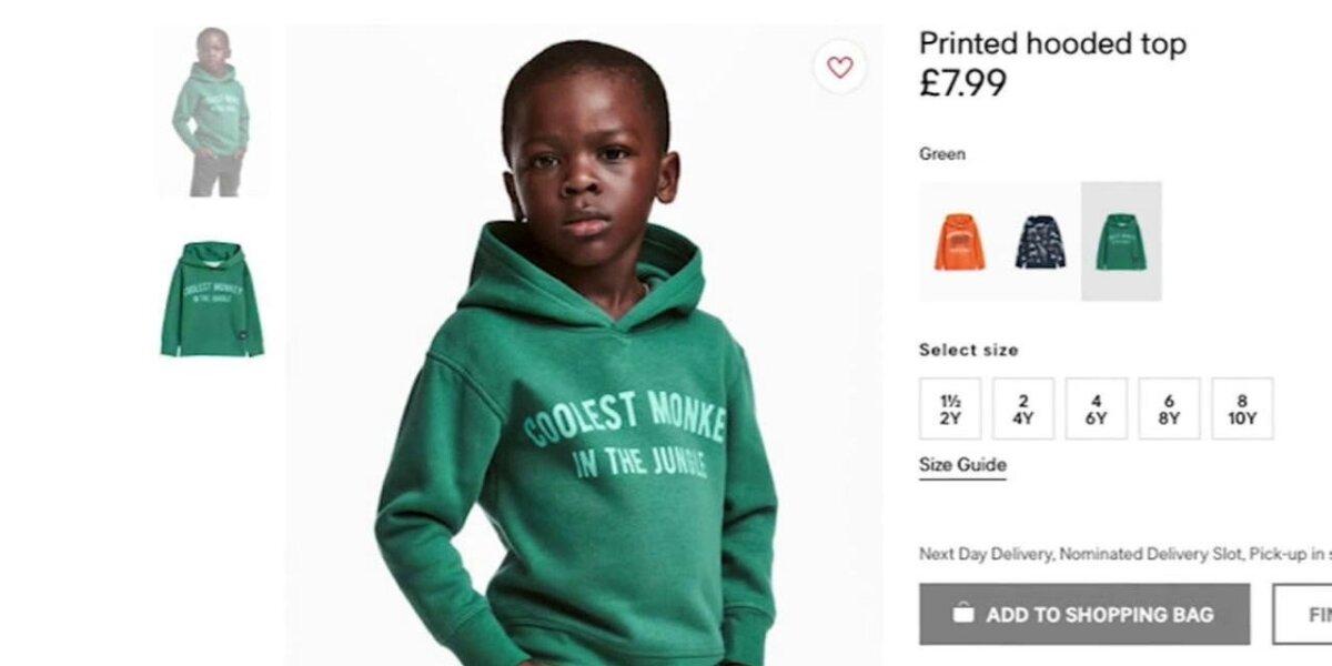Drabužių prekybos tinklas sulaukė priekaištų dėl rasistinės reklamos
