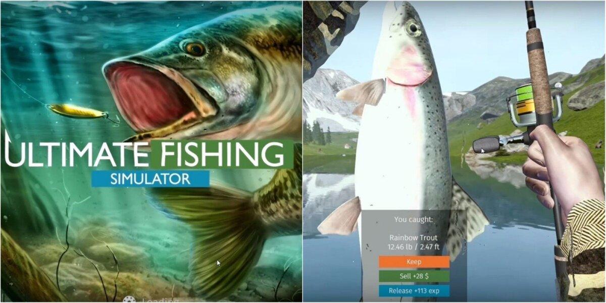 """Kadras iš naujojo žvejybos simuliatoriaus """"Ultimate Fishing"""""""