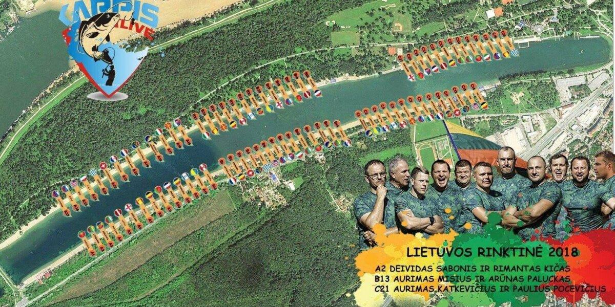 Lietuvos rinktinė Pasaulio karpių gaudymo čempionate