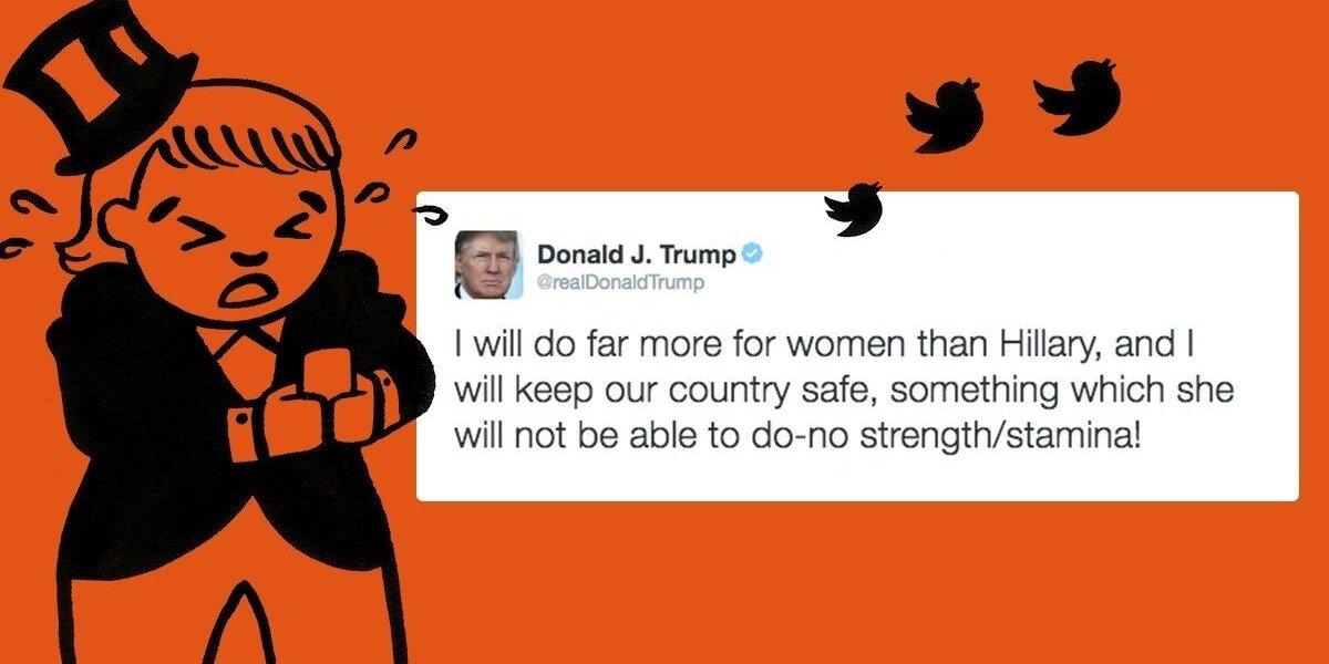 "Už kiekvieną D. Trumpo ""tweet`ą"" – auka H. Clinton kampanijai"