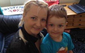 Rasa Klunko su sūnumi