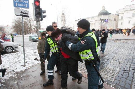 """W Wilnie odbył się """"żywiołowy"""" marsz narodowców"""