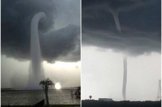 Potężne wodne tornado nad Florydą