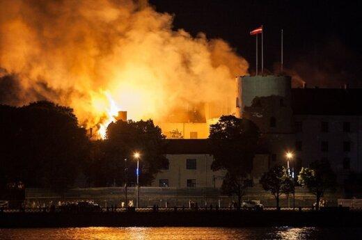 Łotwa: Płonął pałac prezydencki