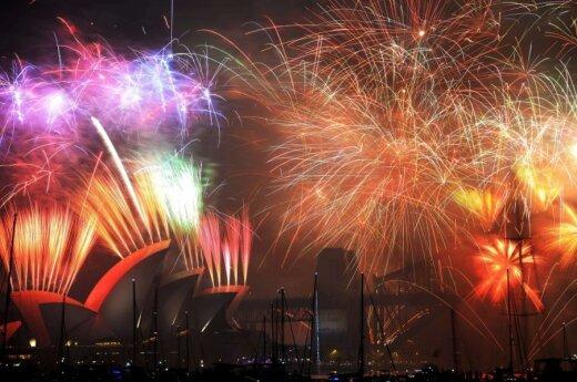 Świat spotyka Nowy Rok