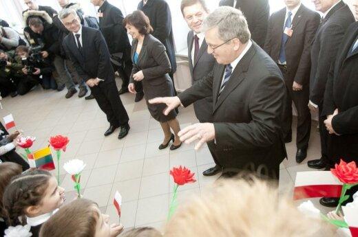 Komorowski: Obecnie jest taki moment, że można myśleć o zdecydowanej poprawie relacji polsko-litewskich