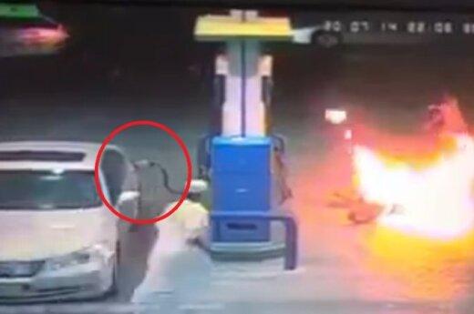 Pożar na stacji paliwowej