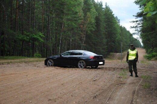 Kradziony BMW. Foto: strazgraniczna.pl