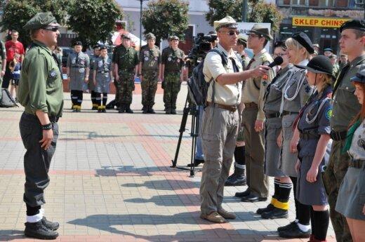 Delegacja ZHPnL w Toruniu, fot. W. Dowejko