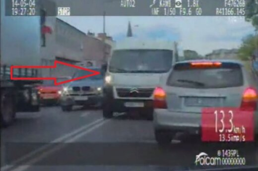 Grajewscy policjanci nagrali i zatrzymali pirata drogowego