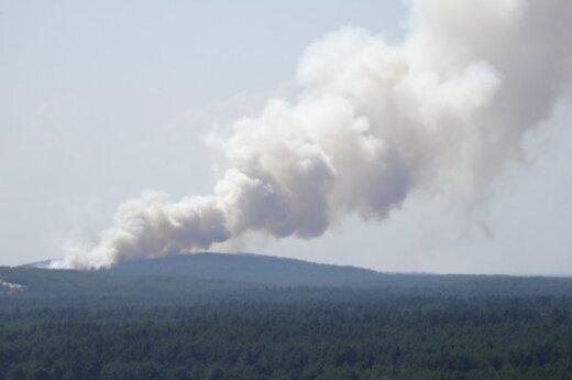 Na pomorzu znowu pożar. Rosjanie odrzucili pomoc litewskich strażaków