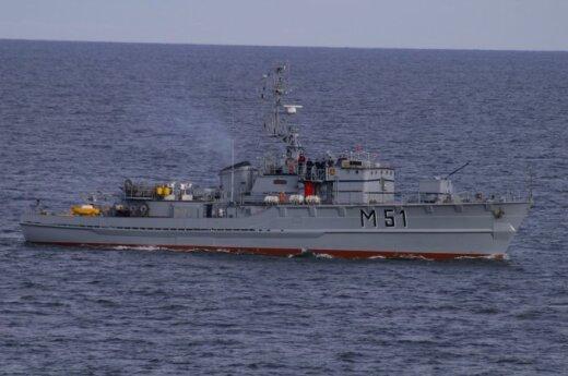 Pięć niszczycieli min wpłynęło do portu w Kłajpedzie