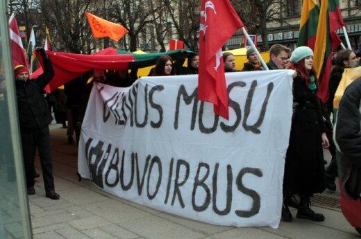 Marsz narodowców w Kownie