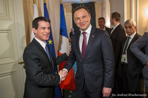 Spotkanie z premierem Francji Manuelem Vallsem