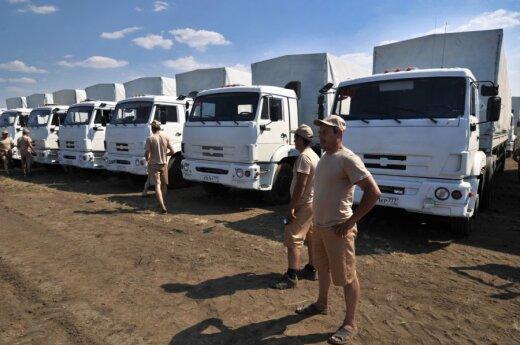 Rosyjska kolumna humanitarna przemieszcza się w kierunku Ługańska