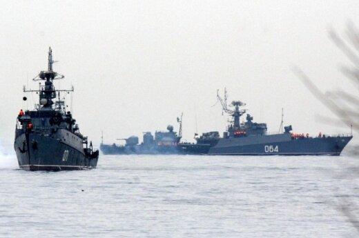 22 rosyjskie statki wojskowe w pobliżu granic Litwy