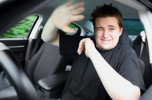 Agresyvus, piktas vairuotojas
