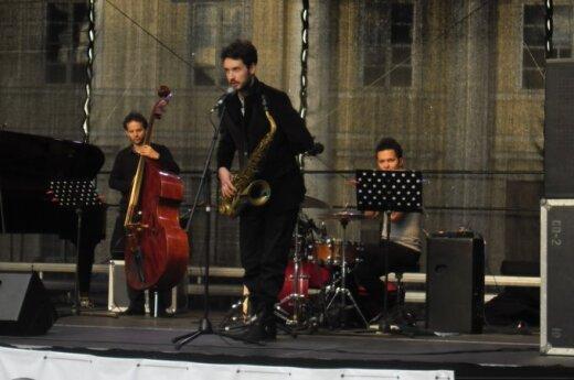 """Koncert """"Krzysztof Urbański Quartet""""  w Wilnie, fot. Ewelina Mokrzecka"""