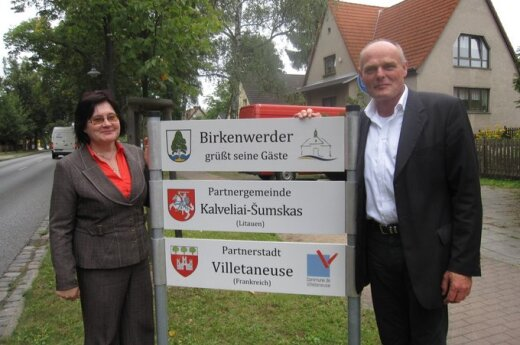 Delegacja gminy Kowalczuki w Birkenwerder