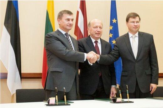Andrusas Ansipas, Andrius Kubilius, Valdis Dombrovskis