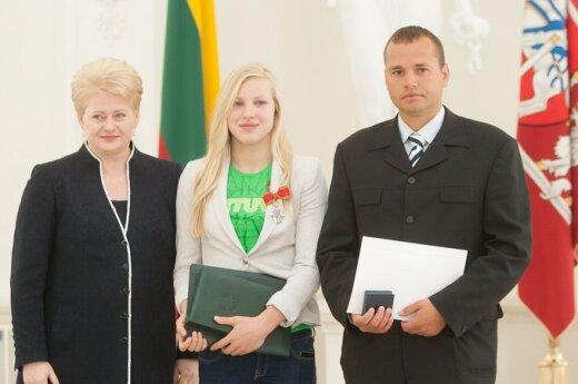 Dalia Grybauskaitė, Rūta Meilutytė, Giedrius Martinionis