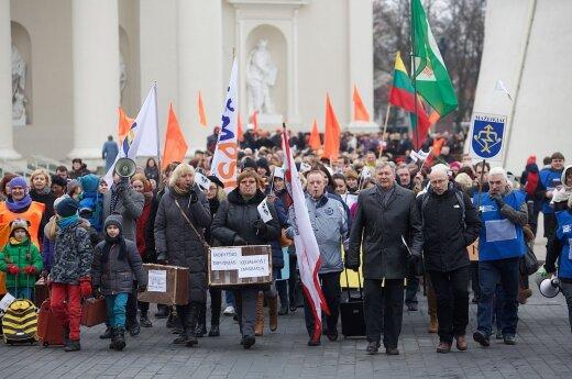 Marsz i wiec nauczycieli