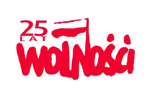 25 LAT WOLNOŚCI. Logo: Kancelarii Prezydenta Rzeczypospolitej Polskiej