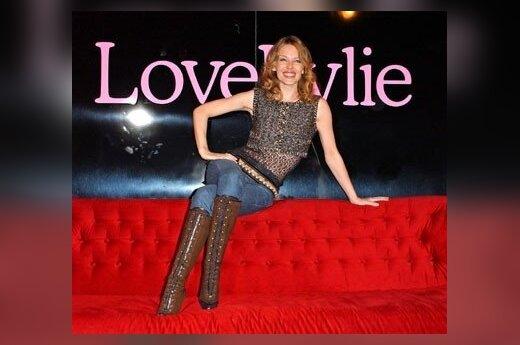 Kylie Minogue obsypie kwiatami
