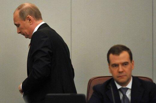 Rosja: Spadły rankingi Władimira Putina i Dmitrija Miedwiediewa