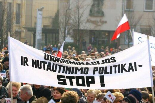 Marsz i wiec przeciwko Ustawie o oświacie w Wilnie