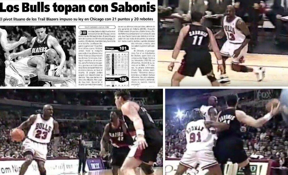 Arvydo Sabonio ir Michaelo Jordano dvikova